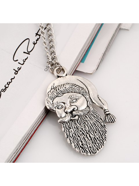 womens Father Christmas Necklace -   Mobile