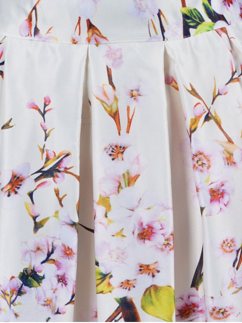 chic A Line Tiny Flower Print Skirt - OFF-WHITE ONE SIZE(FIT SIZE XS TO M) Mobile