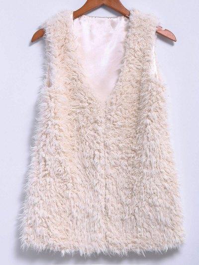 Image For Lamb Wool V-Neck Sleeveless Waistcoat