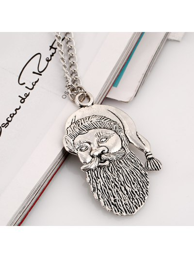 Father Christmas Necklace - SILVER  Mobile