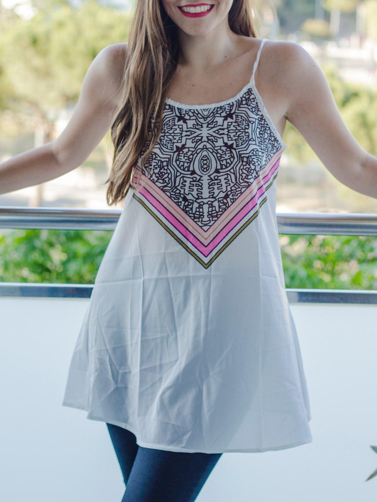 Spaghetti Strap Stripes Pattern Sleeveless Dress