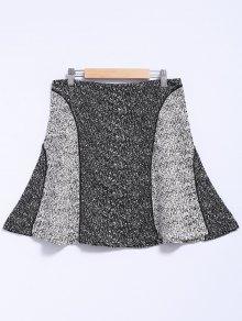 Color Block A-Line Splicing Skirt
