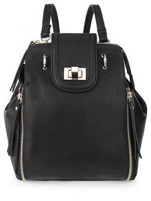 Solid Color Hasp Zips Satchel