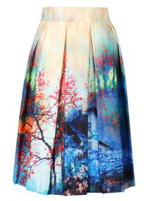 Buy Print Line Skirt - COLORMIX ONE SIZE(FIT SIZE XS TO M)