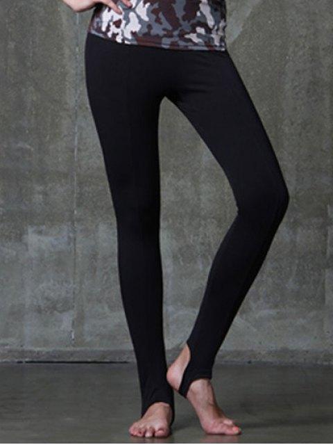 womens Active Style Elastic Waist Solid Color Yoga Pants For Women - BLACK M Mobile