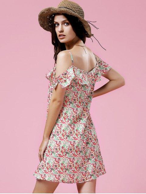 latest Tiny Floral Frilled Dress - COLORMIX L Mobile