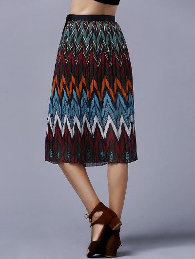 Chevron Stripe Chiffon Skirt - COLORMIX ONE SIZE(FIT SIZE XS TO M) Mobile