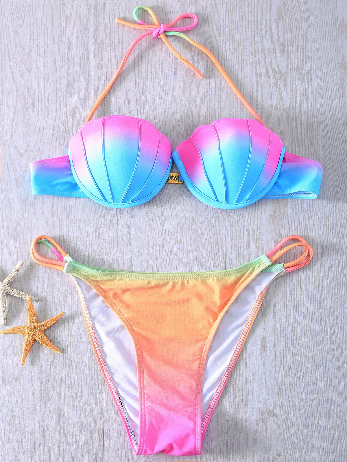 Halter Ombre Bikini Set