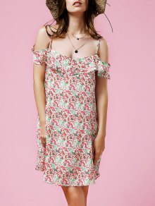 Tiny Floral Frilled Dress