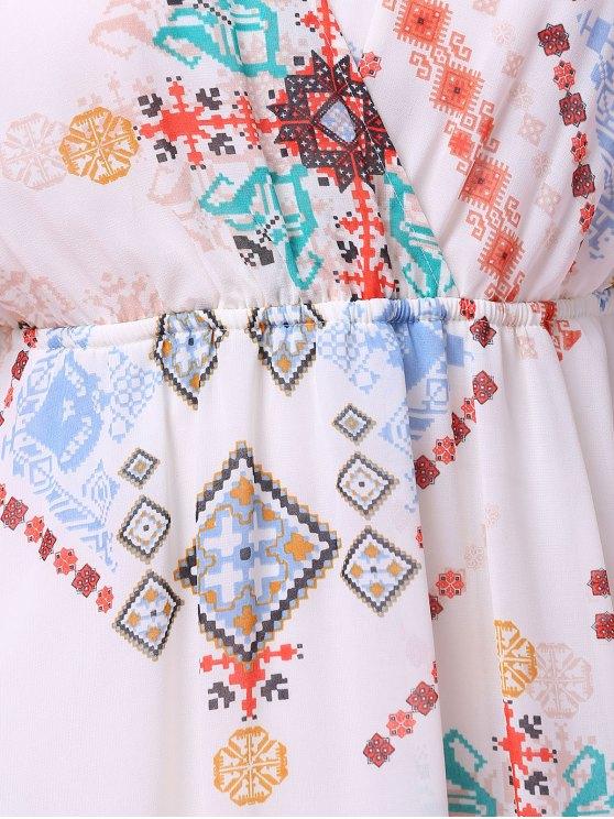 Cross-Over Chiffon Dress - OFF-WHITE L Mobile