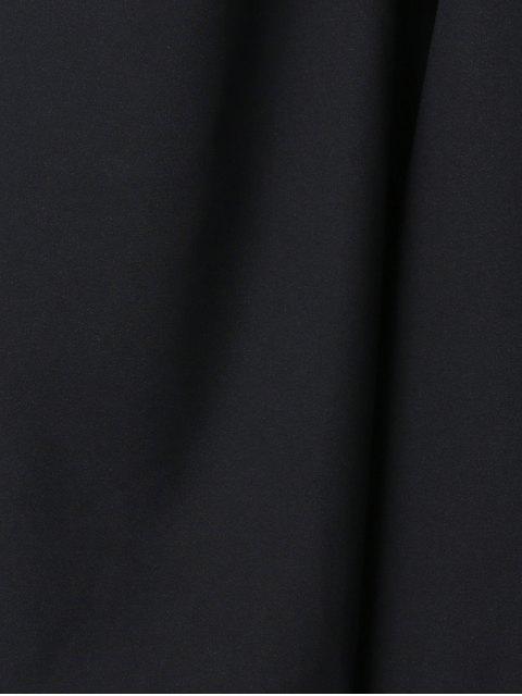 unique Black High Waist Flare Pants - BLACK XL Mobile
