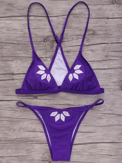 Cami Embroidered Bikini Set