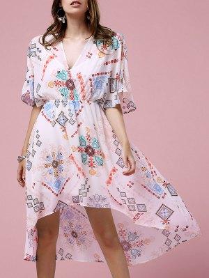 Cross-Over Chiffon Dress - Off-white
