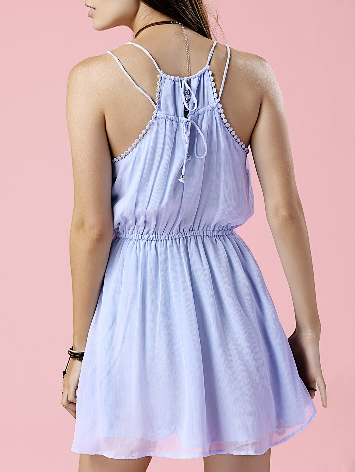 Cami Pure Color Chiffon Dress