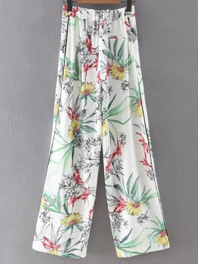 Printed High Waist Wide Leg Pants
