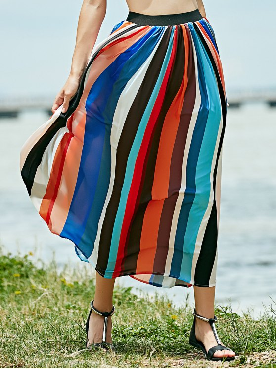 Long Boho Skirt - COLORMIX L Mobile