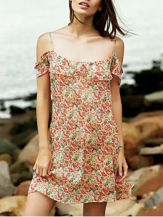 shops Tiny Floral Cami Ruffles Dress - COLORMIX M