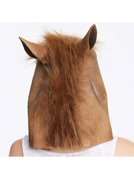 Halloween Supplies Horse Mask Gangnam Style Cosplay Prop - BROWN  Mobile