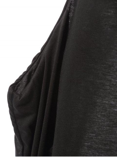 chic Spaghetti Strap Loose-Fitting Maxi Dress - BLACK L Mobile