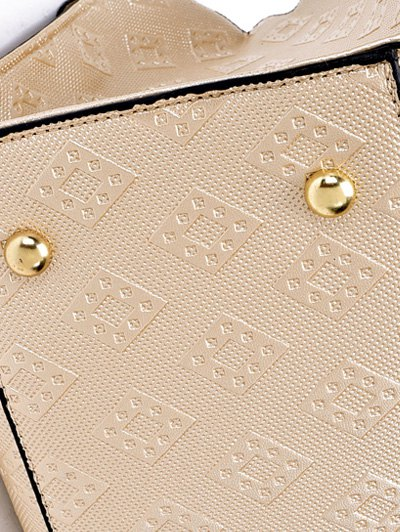 Checked Embossing Double Buckles Tote Bag от Zaful.com INT