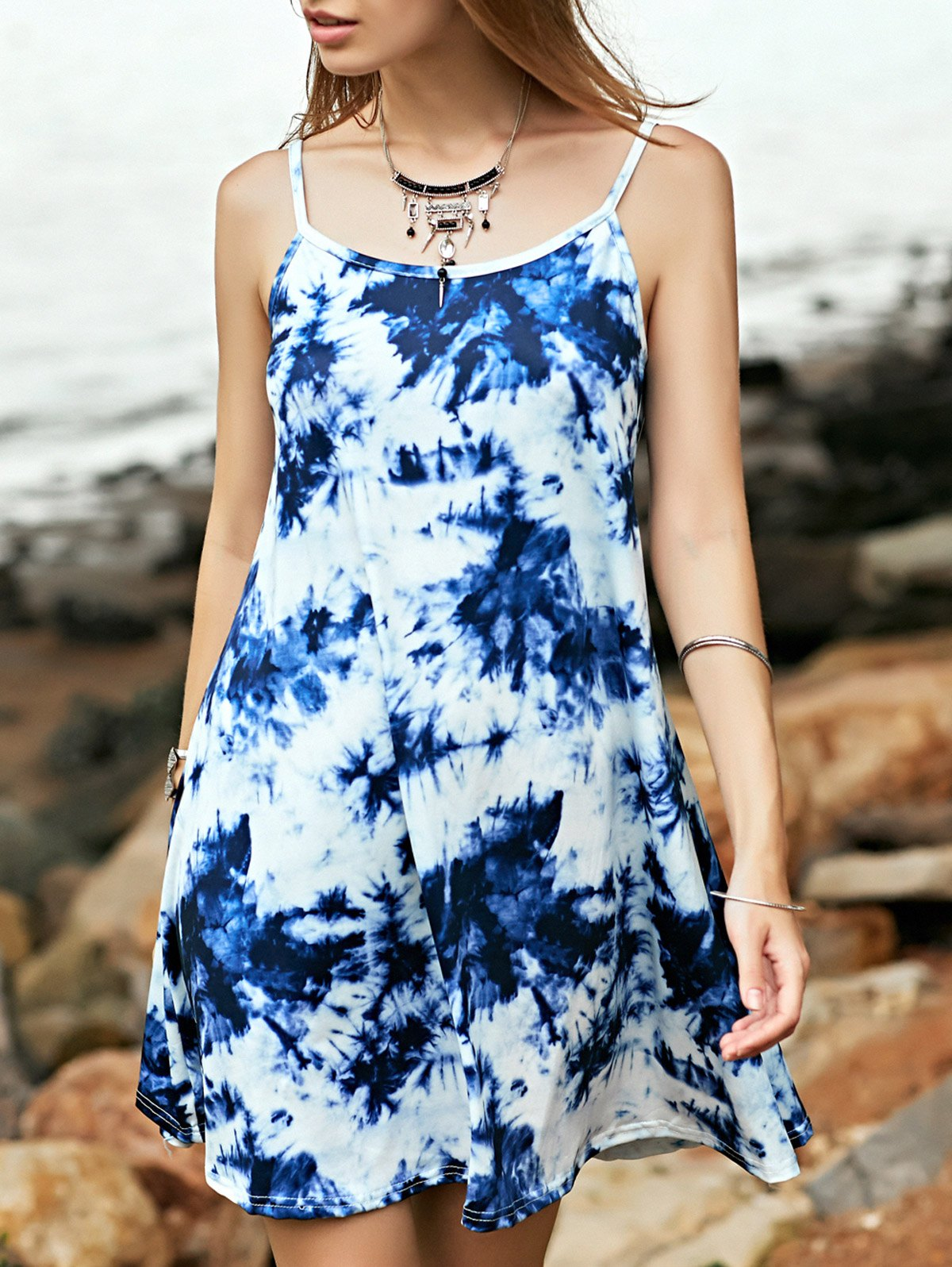 Cami Tie Dye Print A Line Dress