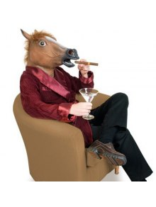 Cool Halloween Horse Mask Gangnam Style Cosplay Prop For Fancy Ball Party Show - Brown