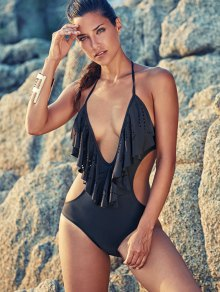 One-Piece Flounce Swimsuit