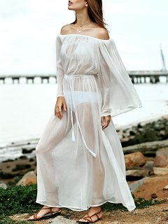 Cover Up Off The Shoulder Dress - White M