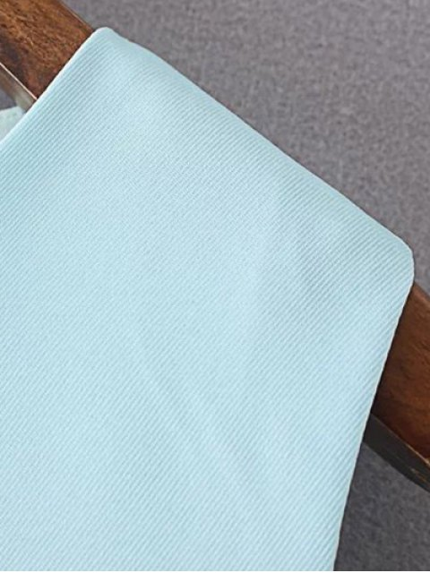 ladies Sleeveless Floral Print Round Neck Dress - LIGHT BLUE L Mobile
