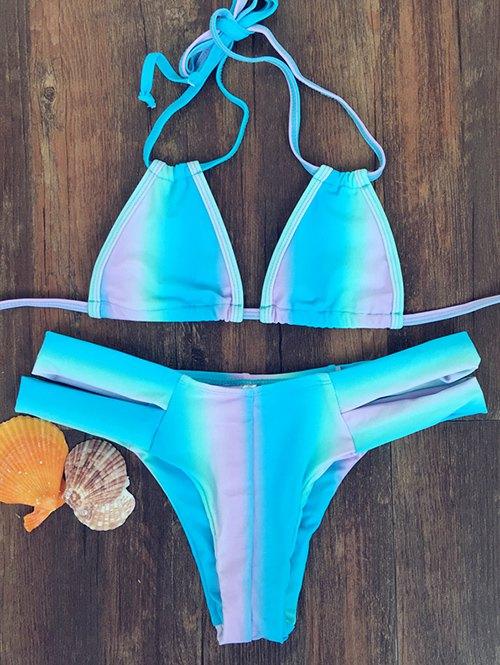 Halter Tie-Dyed Bandage Bikini Set