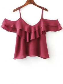 Solid Color Cami Flouncing T-Shirt