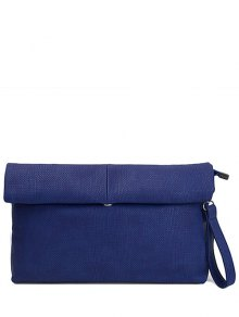 Solid Color Fold Down Clutch Bag