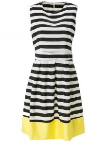 Stripe Spliced A Line Sundress