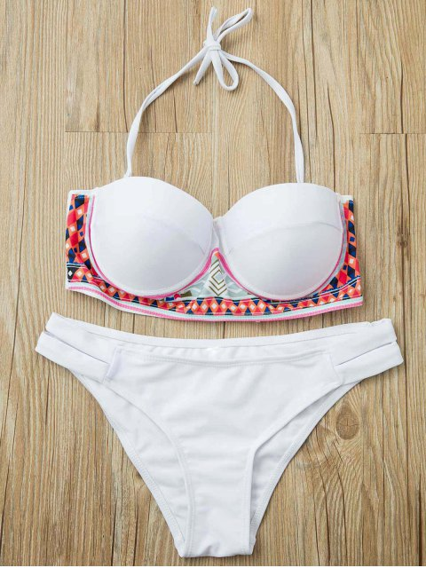 womens Underwire Bikini Set - WHITE S Mobile