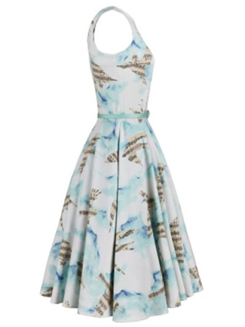 latest Music Note Skater Dress - COLORMIX XL Mobile