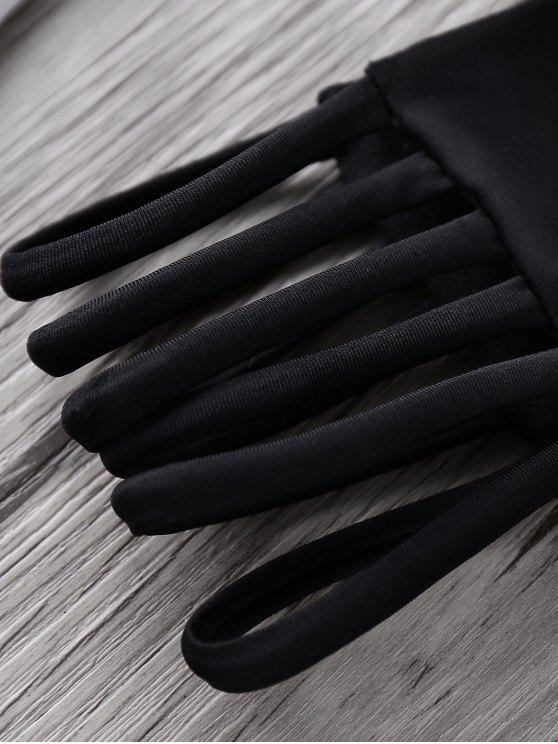Coco Print Cami Bikini Set - BLACK S Mobile