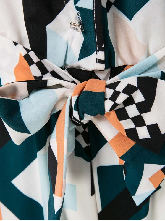 Geometric Print Elegant Jumpsuit - COLORMIX L Mobile