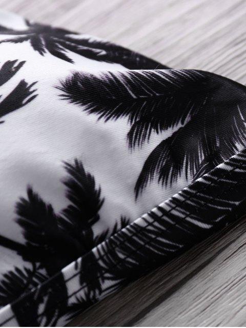 buy Coco Print Cami Bikini Set - BLACK S Mobile