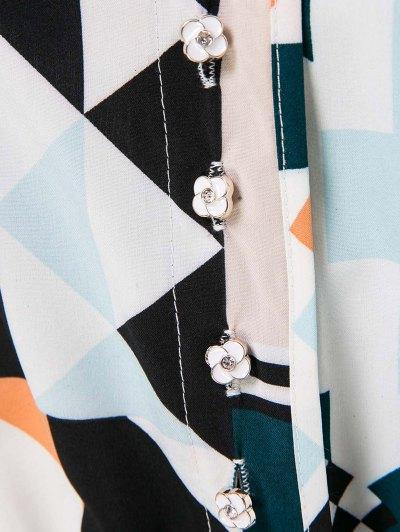 Geometric Print Elegant Jumpsuit - COLORMIX M Mobile