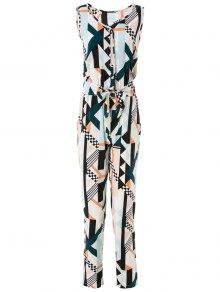 Geometric Print Elegant Jumpsuit