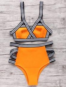 Neoprene Bandage Bikini Set - Orange S
