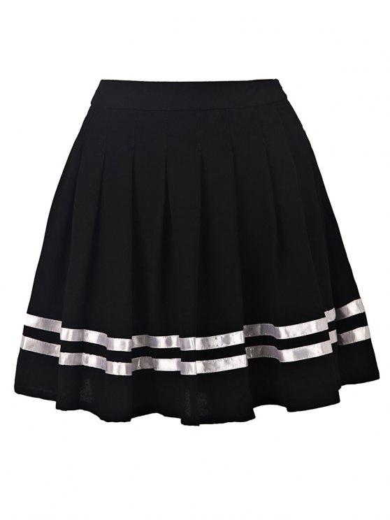 Pleated High Waisted Skirt - BLACK M Mobile