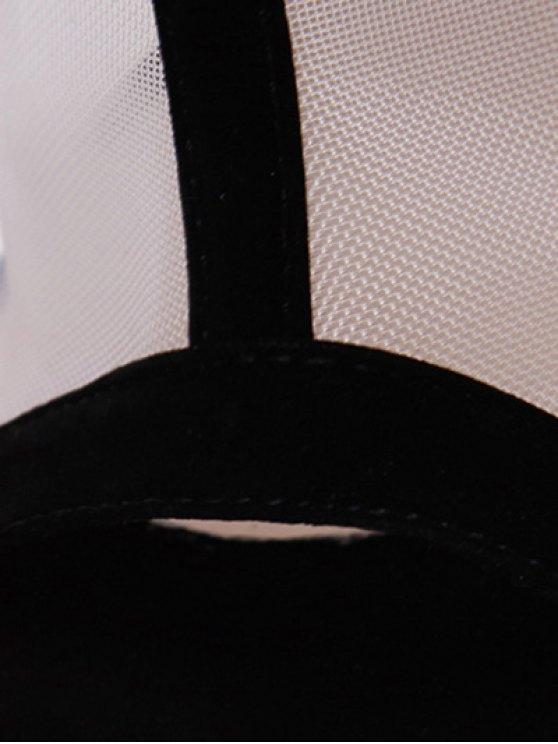 Gauze Polka Dot Peep Toe Shoes - BLACK 38 Mobile