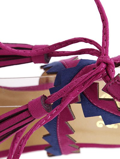 Color Block Sawtooth Stiletto Heel Sandals от Zaful.com INT