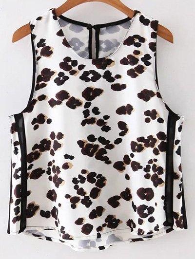 Leopard Print Round Neck Tank Top