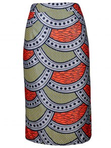 High-Waisted Printed Pencil Skirt - S