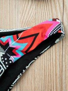 Ethnic Pattern Halterneck Bikini Set