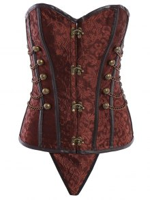 Alloy Chain Steampunk Lace Up Corset