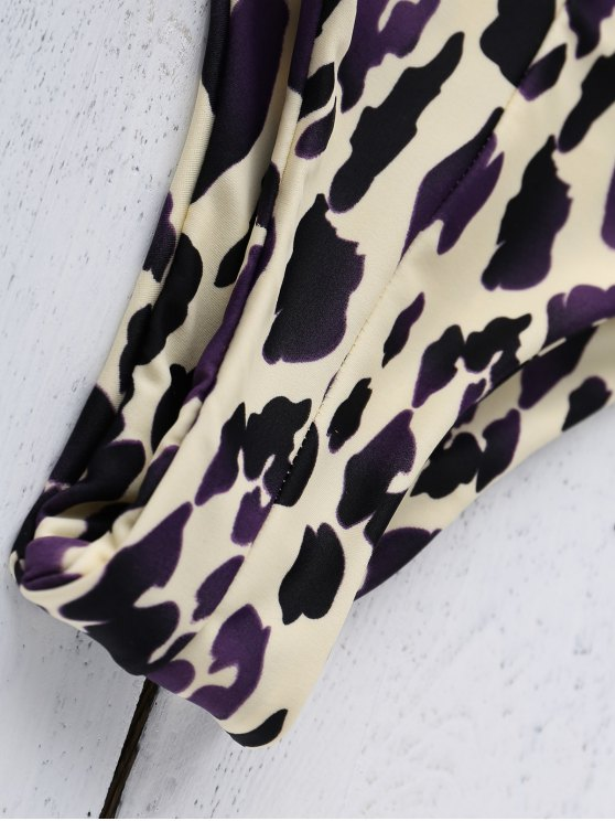 Leopard Print Bandage Bikini Set - LEOPARD L Mobile