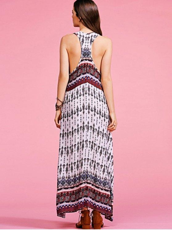Bohemian Printed Sleeveless Maxi Dress - COLORMIX S Mobile